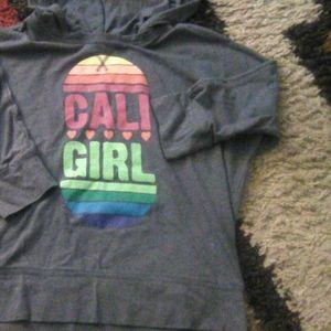 Girls old Navy Cali Girl short sleeve hoodie